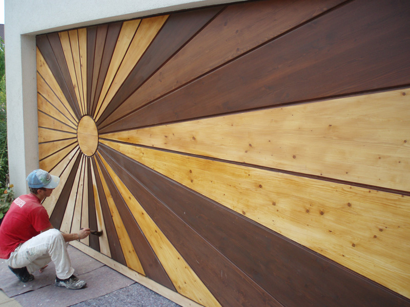 Garagentor Verschönern naturholz garagentor - maler fleig rheinfelden hellikon